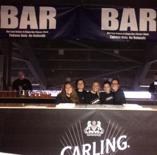 Accies Girls Raising Funds For The Club – Working At The Bon Jovi Concert – Hampden – Glasgow