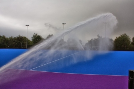 Water Canons on New Pitch
